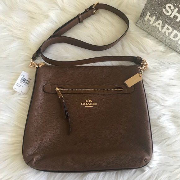 clearance sale top-rated genuine hot sale Coach F34823 Mae Crossbody Pebbled Leather Bag NWT